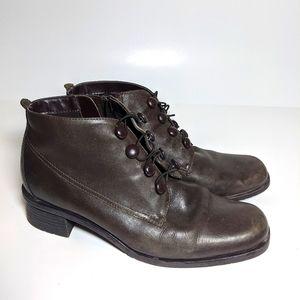 Brown Isotoner Booties zip up Riding Boots